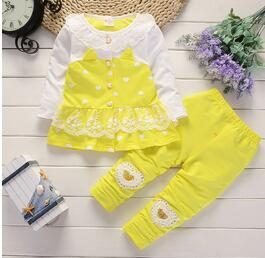 BibiCola baby girls clothing set baby girls clothes t-shirt + pants 2pcs Sport suit cotton Toddler girl newborn clothing-eosegal