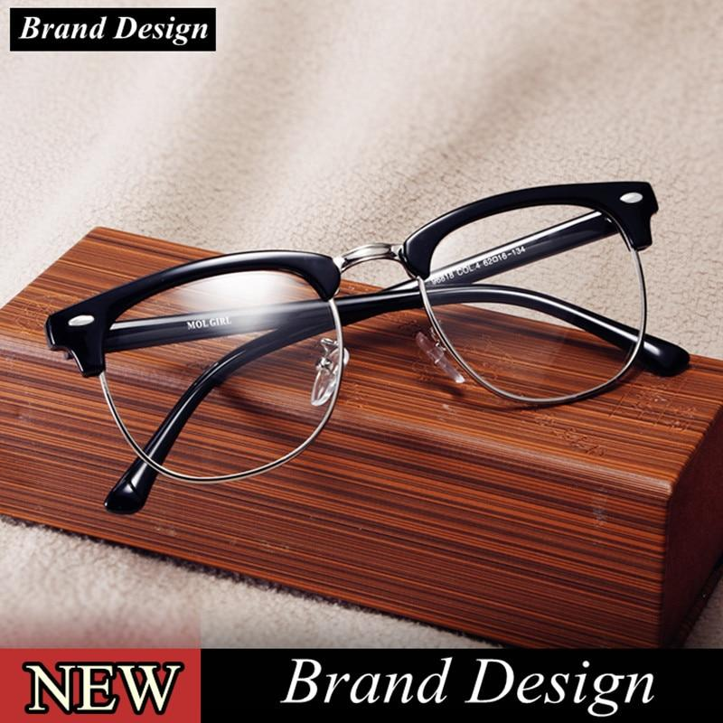 2018 Classic Rivet Half Frames Eyeglasses Vintage Retro Eye Glasses Frame Meneosegal-eosegal