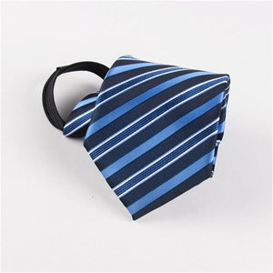 8cm Necktie For Men Zipper Slim Narrow Lazy Tie Easy Toeosegal-eosegal
