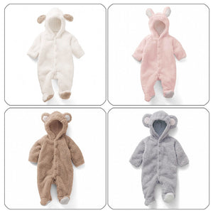 Spun Velvet Shape Romper Coral Clothes Animal Jumpsuit Romper for Children for warm clothing-eosegal