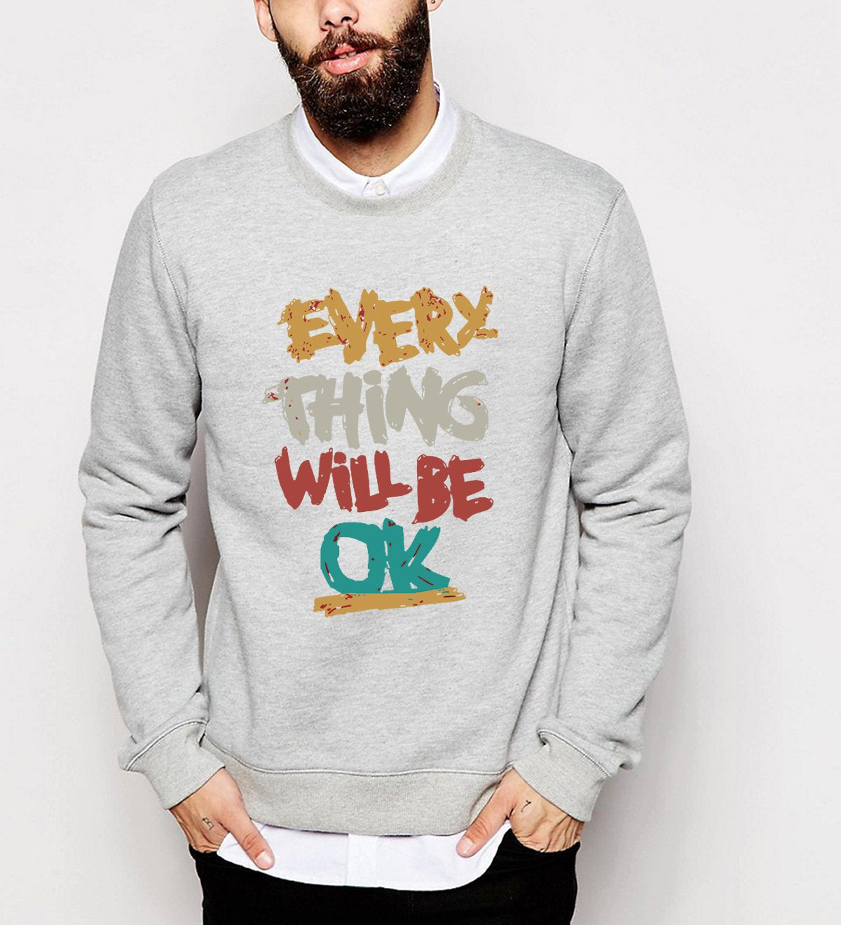 hot sale 2017 men autumn winter hipster hoodies Everything Will Be Okeosegal-eosegal
