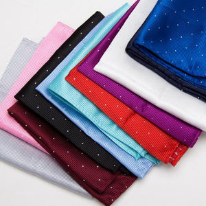 Men's Pocket Square Hankerchief Korean Paisley Dot Floral Hanky Wedding Party Redeosegal-eosegal