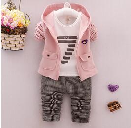 BibiCola toddler Clothes Baby Boy Clothing set Sport Suits fashion Hooded +T-shirt + Pants 3 pcs Boys Tracksuit Sets-eosegal