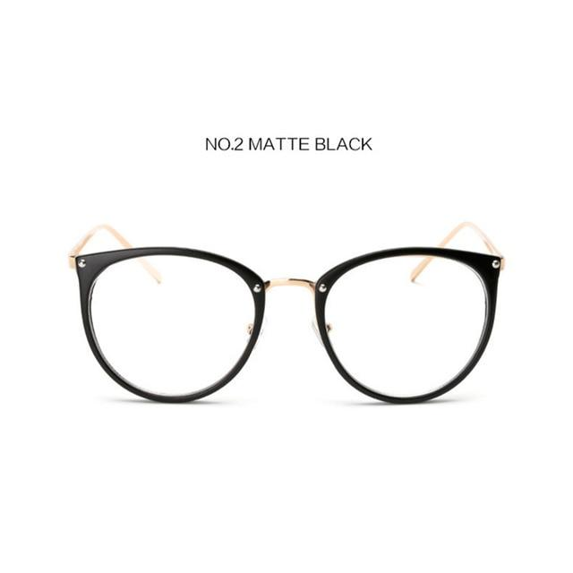 YOOSKE Oversized Clear Lens Glasses Men Women Retro Metal Frame Eyeglasses Transparenteosegal-eosegal