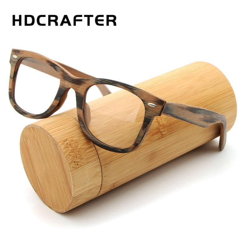 Prescription Glasses Frame Retro Wooden Plain Myopia Glasses with Clear Lenseosegal-eosegal