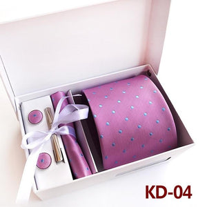 3.35inch (8 Cm) Wide Business Office Men's Wedding Arrow Dot Jacquardeosegal-eosegal