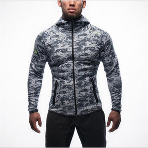 2018 Brand Clothing New Fitness Men Hoodies Gyms Men Hoody Zipper Casualeosegal-eosegal