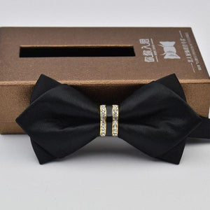 2017 Shiny Crystal Bowtie for Men Solid Bow Tie Rhinestone Wedding Accessorieseosegal-eosegal