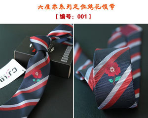 2017 Embroidered Narrow Animal Mens Ties Polyester Jacquard Weave Tie Slim Necktieeosegal-eosegal