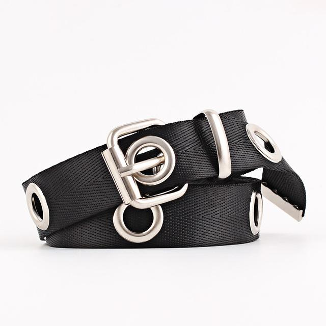 New Fashion Women Canvas Belts Hollowed Out Air Hole Style Euramerican Stylish Waist Belt 2018 Designer Corset Belts for Ladies-eosegal