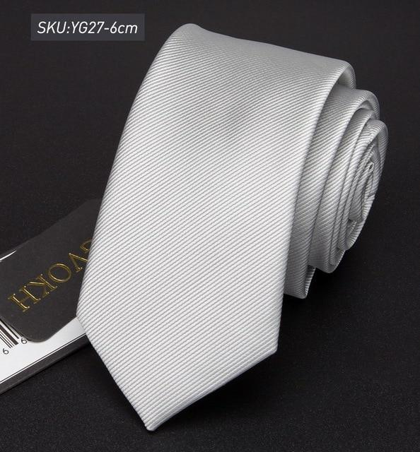 Men Tie 6cm skinny ties Striped Polyester Neckties Mens Fashion Jacquard Businesseosegal-eosegal
