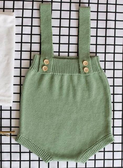 Baby Knitting Rompers Cute Overalls Newborn Baby Boys Clothes Infantil Baby Girl Boy Sleeveless Romper Jumpsuit 0-24M-eosegal