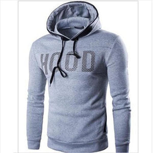 New 2018 Fashion Men Sweatershirt Hoodies Casual Letter Printing Skinny Fiteosegal-eosegal