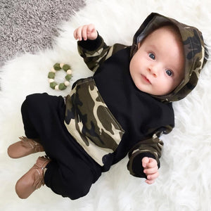 2018 Baby Boy Girl Clothing sets Hoodies Sweatshirt Camouflage Clothing + Pants Toddler 2pcs Outfits Set Baby Boys Clothes Suit-eosegal