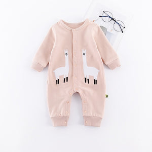 Long Sleeve Romper Cute Spring Autumn Warm Infant Baby Jumpsuit Cartoon Solid Color One-piece Boys Girls Animal Baby Overalls-eosegal