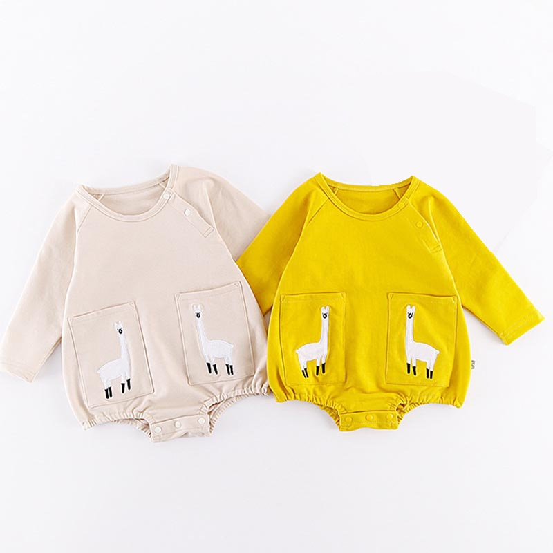 Newborn Baby Bodysuits Infant Boy Girl Cartoon Cute Jumpsuit for Body Baby Animals Printed Clothing Ropa Recien Nacido-eosegal