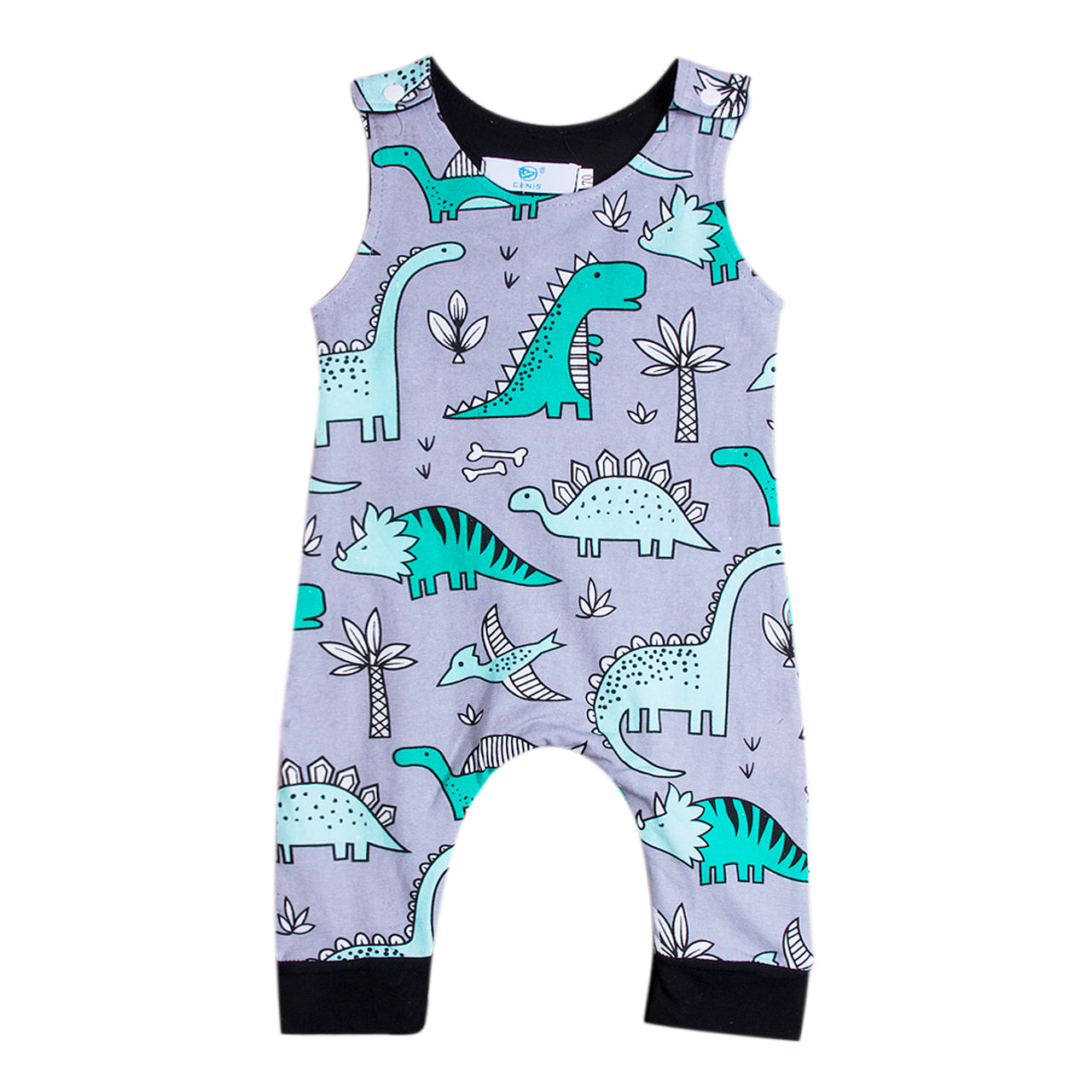 2018 Baby Kids Boy Girl Top Infant Short Sleeves Romper Jumpsuit Dinasour Clothes Outfit Summer Customize Set 0-24M SS-eosegal