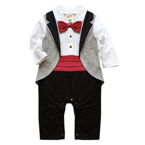 Baby Boys Clothes Autumn Baby Clothing Sets Spring Baby Boy Rompers Gentleman Roupas Bebes Infant Jumpsuits Newborn Baby Clothes-eosegal