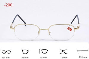 Half Metal Frame Nearsighted Glasses Resin Nearsight Woman Men Shortsighted Myopia Eyewear.-1eosegal-eosegal