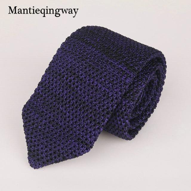 6cm Knit Knitted Ties for Mens Business Suit Necktie Solid Coloreosegal-eosegal