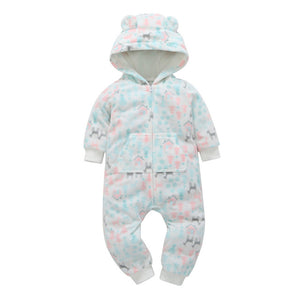 COSPOT 2018 Rush Sale Baby Girls Hooded Fleece Jumpsuit Baby Girls Clothes Newborn One Piece Romper Baby Clothing Overalls 35E-eosegal