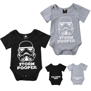Newborn Star Wars Baby Boy Girl Short Sleeve Cotton Romper Jumpsuit Clothes Outfits 0-18M-eosegal