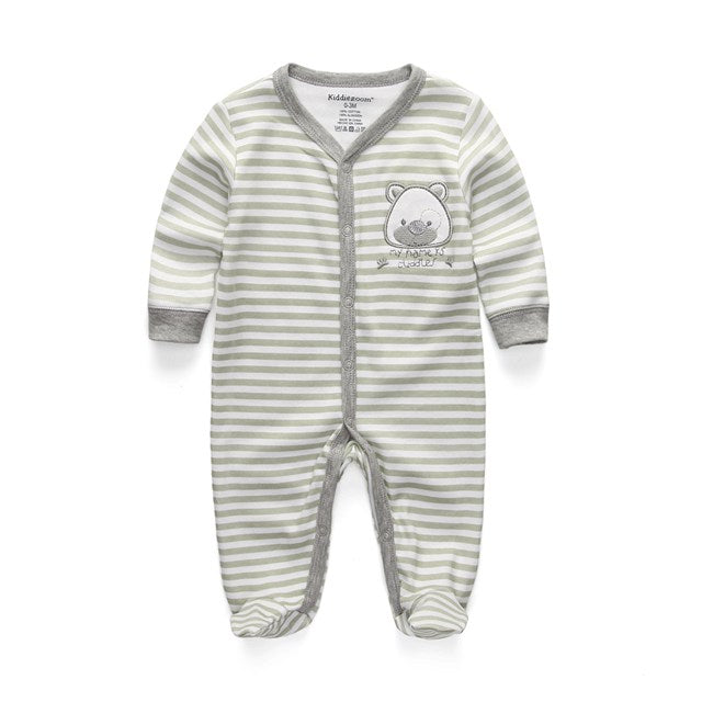 2018 New Children pajamas baby rompers newborn baby clothes long sleeve underwear cotton costume boys girls autumn rompers-eosegal