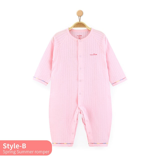 7a0e2aabb262 YOUQI Quality Baby Boy Clothes Girl Rompers Unisex Newborn Toddler Infant Costumes  3 6 18M Pajamas