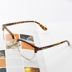 HOT SELL Unisex Hipster Vintage Half Frame Glasses Retro Classic Clear Lenseosegal-eosegal