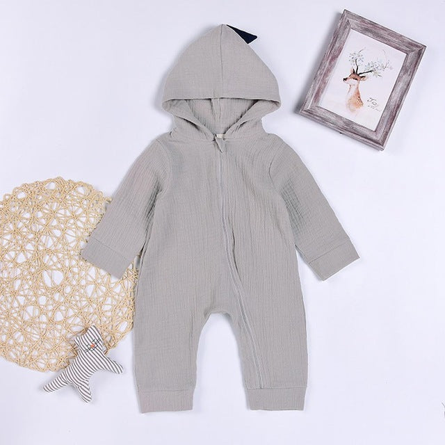 Little J Baby Warm Bunny Ear Rompers Autumn Winter Infant Rabbit Style Jumpsuit Cotton Boys Girls Hare Playsuits Hooded Clothes-eosegal