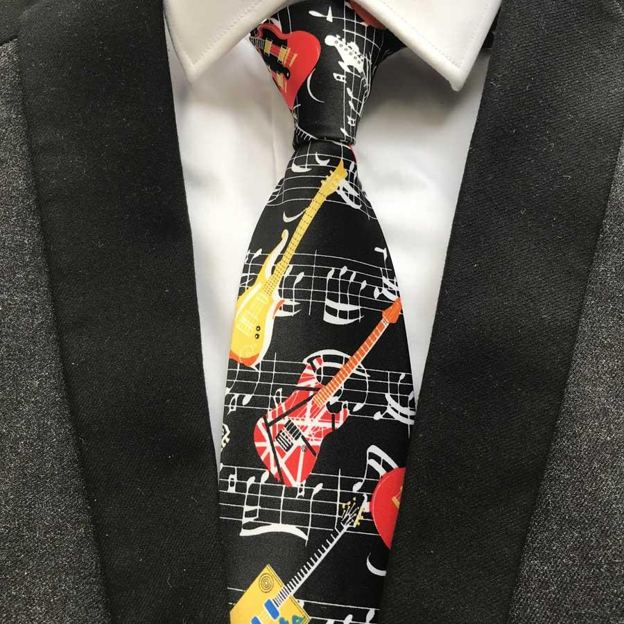 9cm New Designer Men's Music Necktie Unique Musical Ties Wholesaleeosegal-eosegal