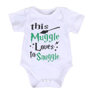 2018 Newborn Toddler Baby Girl Short Sleeves Jumpsuit Bodysuit Green Letters Infant Clothes Outfit Summer Sunsuit-eosegal