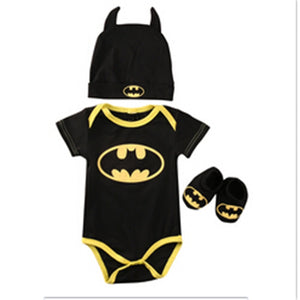Baby Boy Clothes Set Cool Batman Newborn Infant Baby Boy Romper+Shoes+Hat 3pcs 2017 New Arrival Fashion Outfits Set Clothes 0-2Y-eosegal