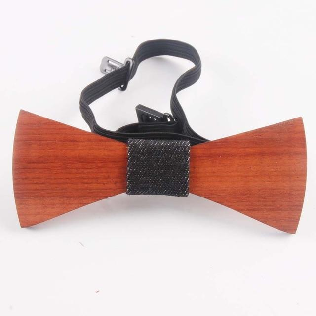 Fashion Western Special Wood Gentleman Bow Ties Handmade Butterfly Wedding Party Boweosegal-eosegal