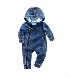 Kimocat new High quality spring and autumn Lucky No.7 Fashion Newborn Baby Ropmer Cartoon Long Sleeve Baby Boy Clothes-eosegal