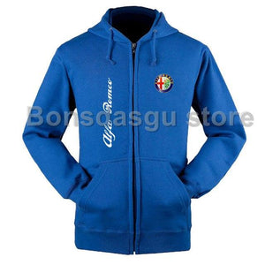 Women and men's ALFA ROMEO logo zipper hoodie JACKET SWEATSHIRTS JACKETeosegal-eosegal