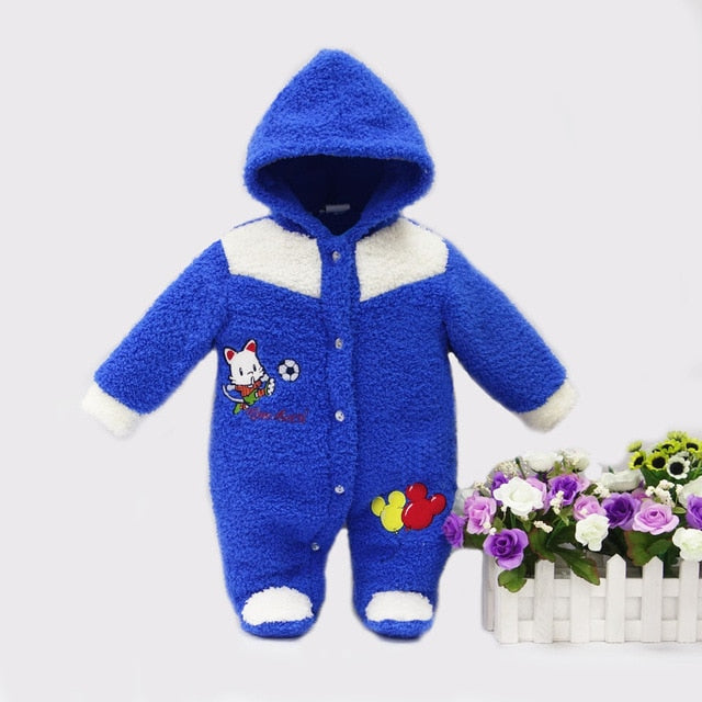 adec56a5a2fd 2018 spring winter hot coral fleece hoodie romper embroidery long ...