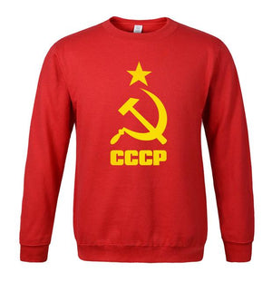 Men's Sportswear 2018 Hot Printed Fleece Hoody USSR Soviet Union KGB Meneosegal-eosegal