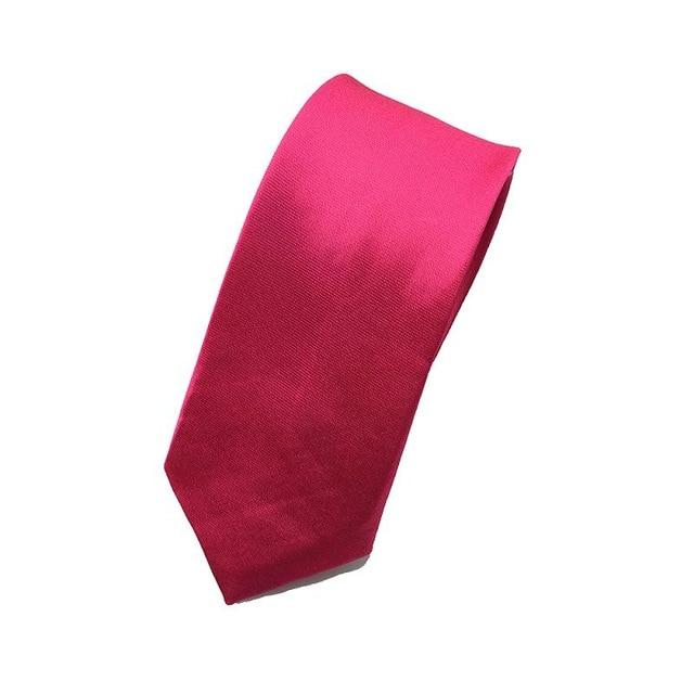5cm Men Tie Wedding Skinny Necktie Female Narrow Solid Color Polyestereosegal-eosegal