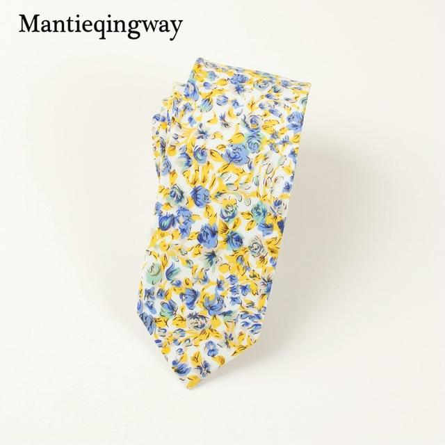 6cm Men's Cotton Necktie Business Suits Neck Ties Wedding Print Floraleosegal-eosegal
