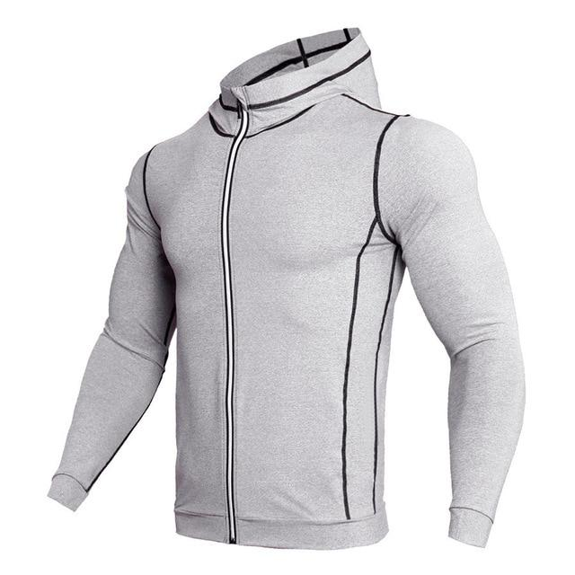 Zipper Design Hoodies Men Bodybuilding Sportswear Sweatshirts Brand Clothing Tracksuits Long Sleeveeosegal-eosegal