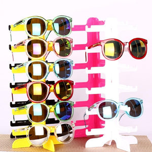 Portable 6 pairs Acrylic Sunglasses Showing Rack Holder Frame 6 Layer Cleareosegal-eosegal