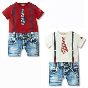 UNIKIDS Baby Boys Kids Newborn Infant Overalls Romper Bodysuit Outfit Clothing Set 3-24-eosegal