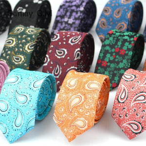New Style Ties for Men Paisley Polyester Jacquard Woven Mens Necktie Formaleosegal-eosegal