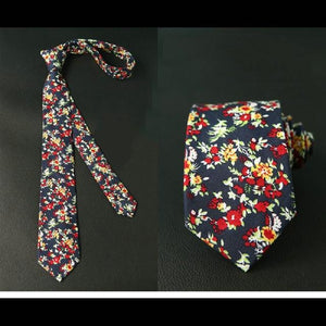 6cm Fashion Cotton Neck Ties for Mens Floral Printed Gravatas Slimeosegal-eosegal
