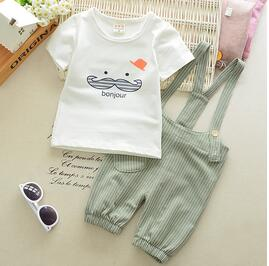 BibiCola Baby Summer Boys Clothing Set Toddler clothes Infant boys tops +Bib shorts Kids Clothing Sets newborn baby boy clothes-eosegal