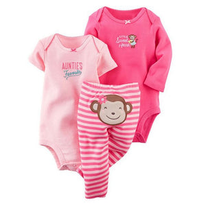 3Pcs Baby Clothing Set 2018 New Newborn Bodysuits Toddler 2Pcs Top + Pants Infant Baby Girls Boys Clothes Sets Christmas-eosegal