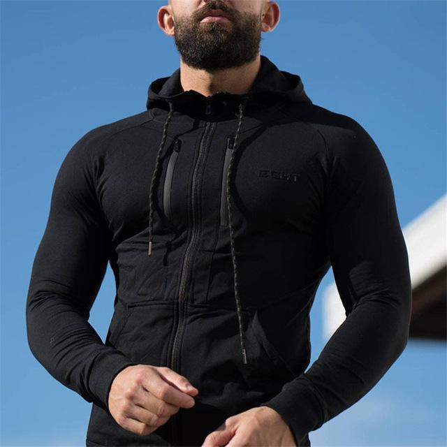 2018 New Men Cotton Camouflage Hoodies Sweatshirt Spring Style Gyms Fitness Hoodedeosegal-eosegal