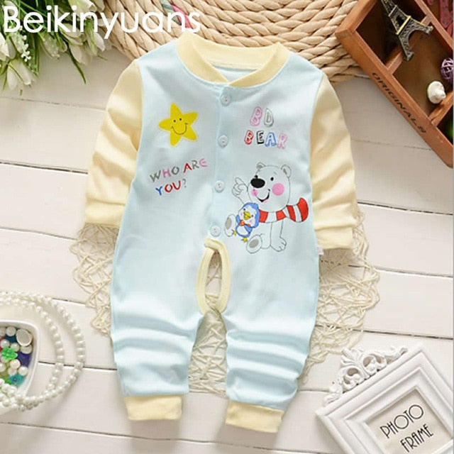 Children 's Body Clothing Cotton Baby Boy Clothes Comfortable Girls Rompers Thick Climbing Newborn 0-15M Baby Clothes Unisex-eosegal