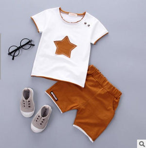 HH Baby boy clothes 2018 Brand Star Printed 2PCS Outfit Toddler baby girl clothing newborn sport suits summer children clothing-eosegal